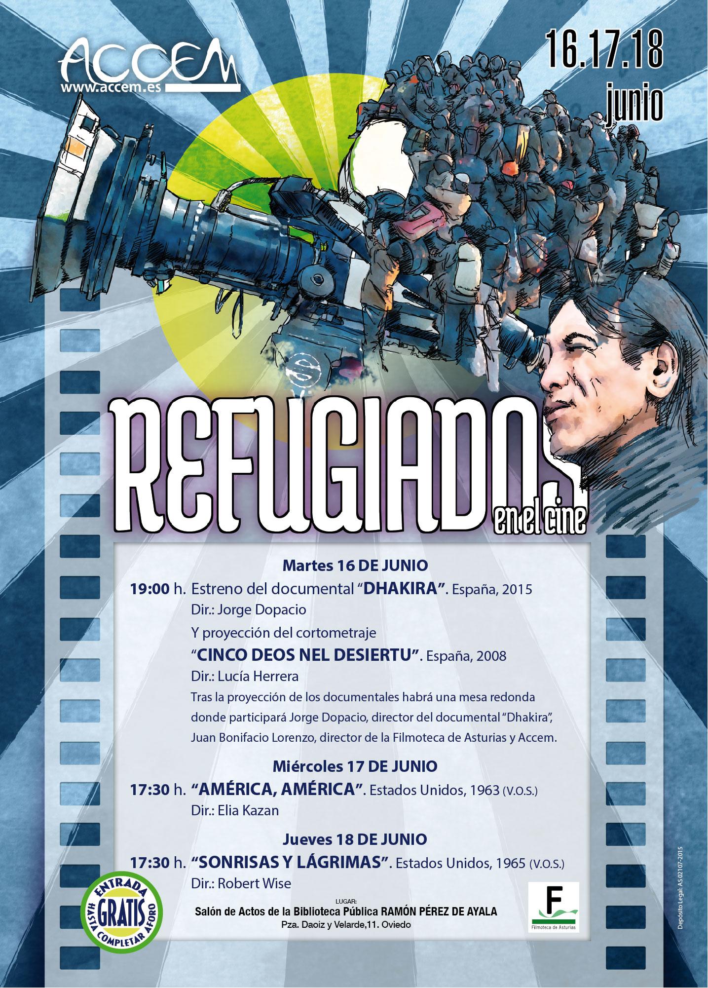 El Ciclo Refugiados en el Cine de Accem, por quinta vez en Asturias (Oviedo, 16 al 18 de junio)