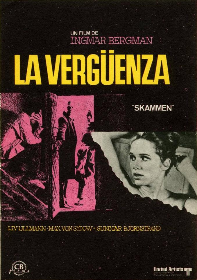 """CONFIRMADA: """"La vergüenza"""" de Ingmar Bergman, en Refugiados en el Cine (20-VI)"""