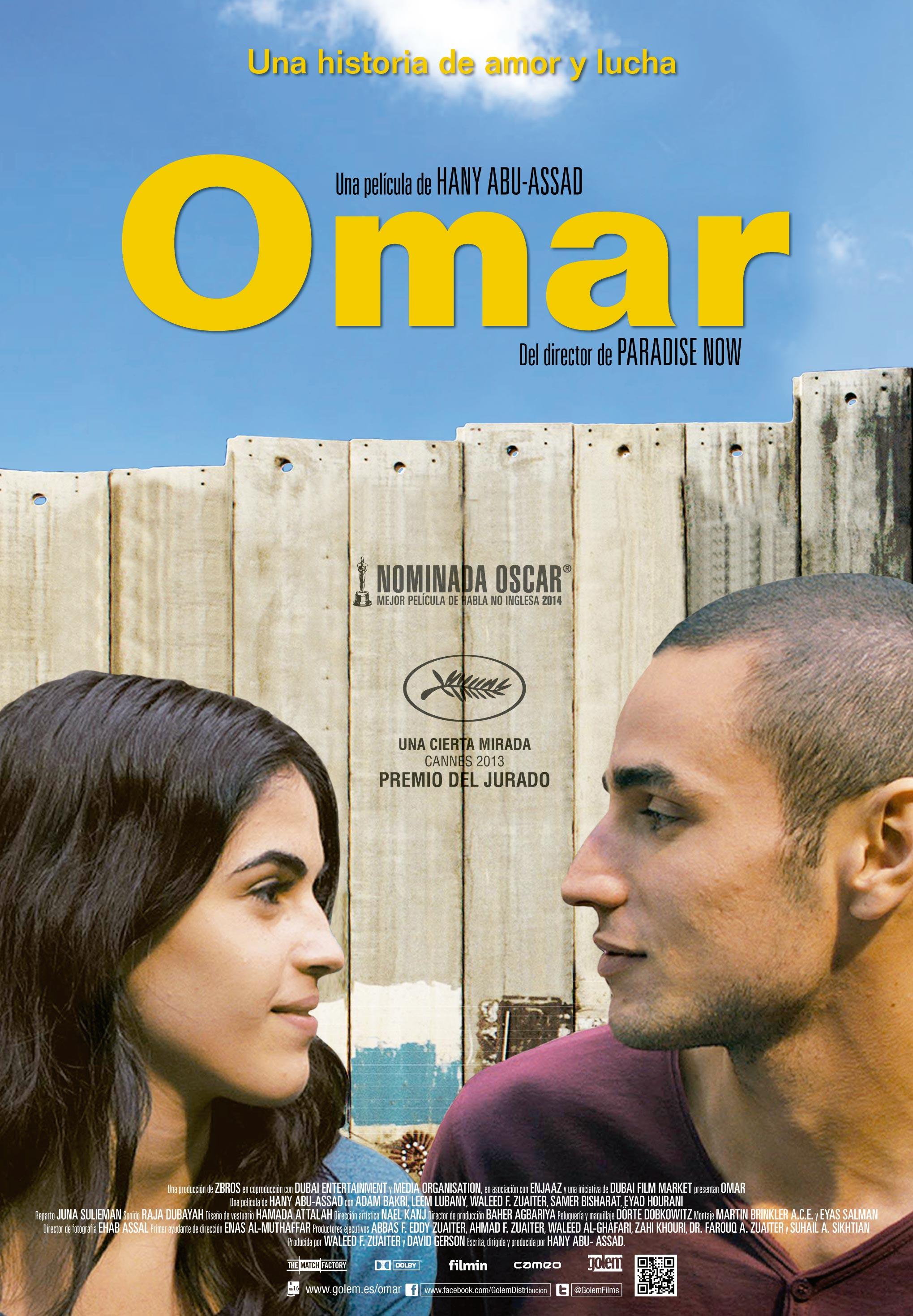"""CONFIRMADA: """"Omar"""", en Refugiados en el Cine (Madrid, 19-VI)"""